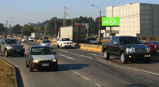 <b>Avda. Jorge Alessandri</b></br>(Autopista, hacia Mall Trébol, Aeropuerto)